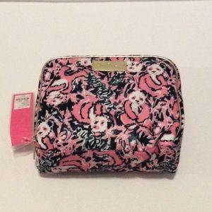 New Lilly Pulitzer Cosmetic Bag Hibiscus Panda